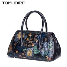 TOMUBIRD 2016 New genuine leather women bag fashion painted embossing leather art bag women leather handbags shoulder bag