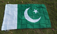 world flying natioal flag hundred percent polyester printed Pakistan flags and banners 3*5ft decoration outlast banner