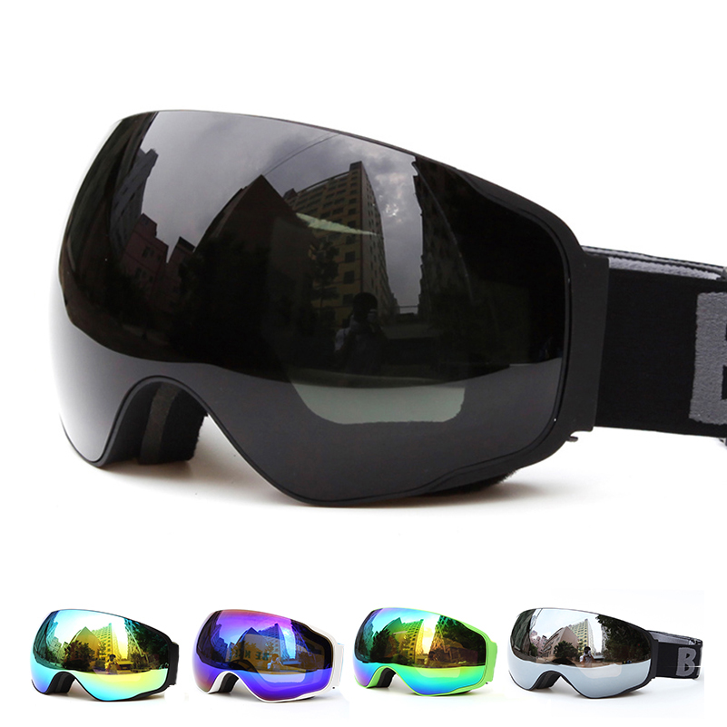Professional Spherical double lens uv400 anti-fog Adult ski goggles skiing mask men women snowboard Eyewear 4200 free shipping<br>