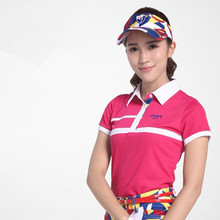 Poleras Polo Hombre Rushed Mulheres Roupas De Golfe 2017 New! Pgm Women's Golf Costume Short Sleeve T-shirt Polo Shirt Lingerie(China)