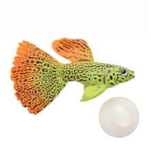 Silicone Artificial Tropical Fish Aquarium Decoration Fish Tank Floating Simulated Angel Fish Peacock Fish Ornament(China)
