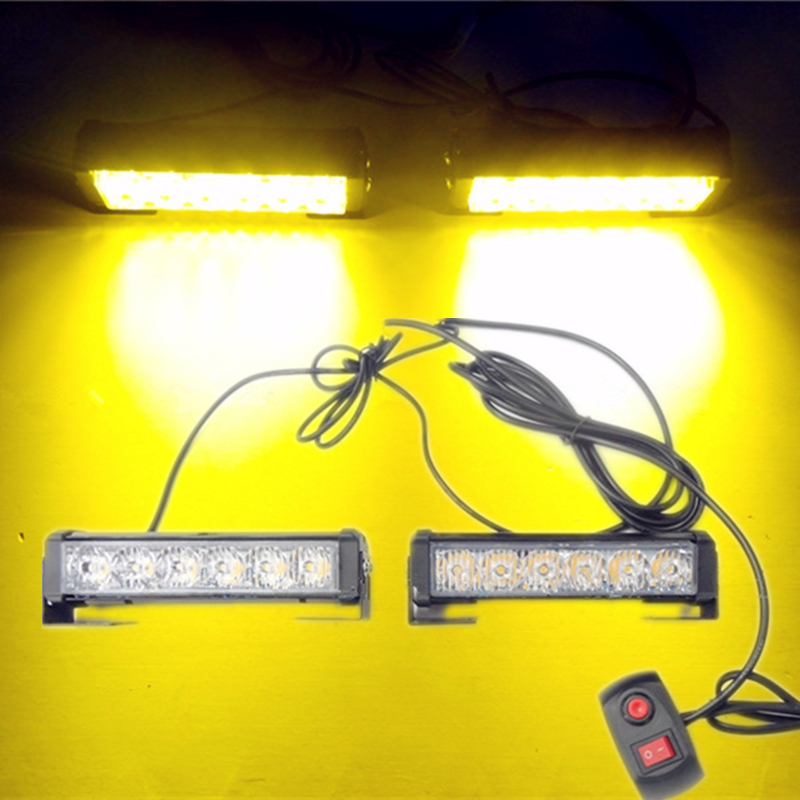 Car Styling 36W 12V High Power 12 LED Automobile Flashing Strobe Lamp Truck Traffic Warning Lightbar Auto Daytime Running Lights<br>