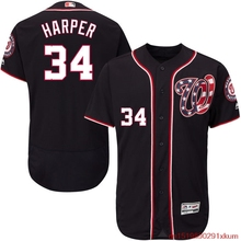 MLB Men's Washington Nationals Bryce Harper Baseball Alternate Navy Flex Base Authentic Collection Player Jersey