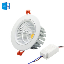 [DBF] New model LED Dimmable Downlight COB 6W 9W 12W 15W 18W 20W LED Spot light LED decoration Ceiling Lamp AC 110V 220V(China)