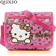ed21535ae2c6 Hello Kitty Women Messenger Bags Young Lady Pretty Cartoon Bag Pink Nylon  Crossbody Bag for Children Girls Birthday Gift TS641