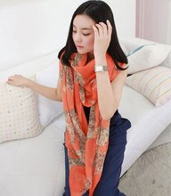 New style cotton Leopard Big scarf  ladies shawls wholesale