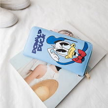 Fashion Women Bag Hello Kitty Wallet Donald Duck Purse PU Handbag Ladies Wallets Clutch Bag Bolsa Feminina Bolsas Female