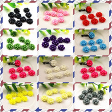 New Fashion 40pcs 12mm 11 Colors Flat Back Resin Flower Cabochons Cameo