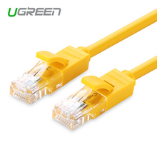 Ugreen 1M/2M/3M/5M Ethernet Cable Yellow Cat 5 RJ45 Network Cable Ethernet Patch Cord Lan Cable RJ45 Computer Connector Cable