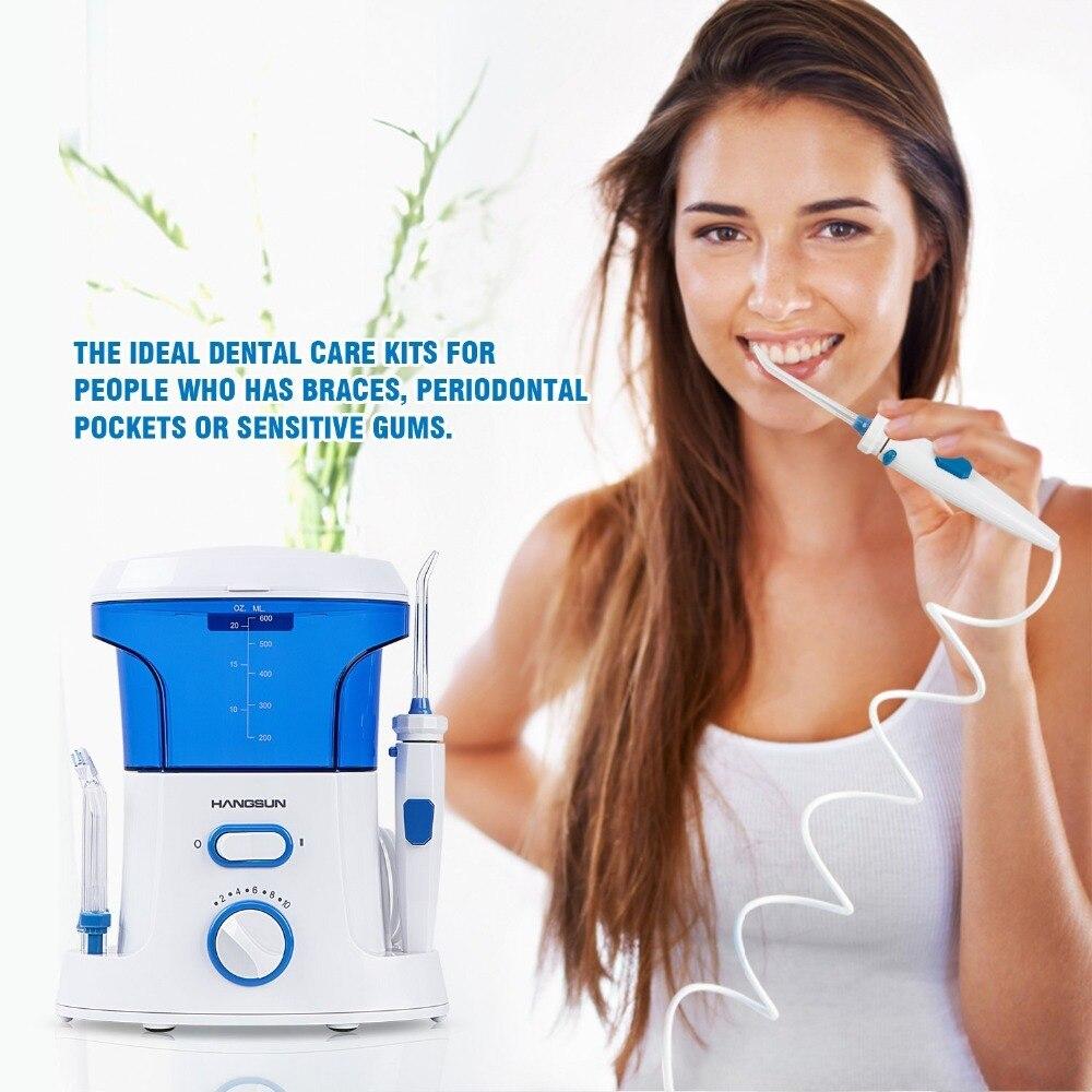 Hangsun EU Plug HOC200 Electric Oral Irrigator Water Flosser Family Dental Water Jet<br>