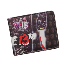 Wholesale Leather Wallets FRIDAY THE 13TH / FREDDY'S NIGHTMARES / SAW Wallet Vintage Men Womens Terror Ghost Movies Wallet Purse(China)