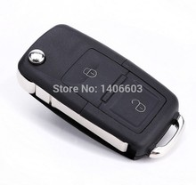 Flip Remote Key Case for VOLKSWAGEN VW Passat Golf Beetle GTI Rabbit 2 Button Auto key shell COVER CASE BLANK  1PC