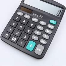 1pcs Hot Selling Portable Office Commercial Tool Battery or Solar 2 in 1 Powered 12 Digit Big Button Electronic Calculator
