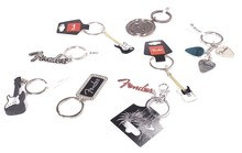 Fender Guitar Metal Keychain - Telecaster Stratocaster Fender Logo, Genuine Fender Products