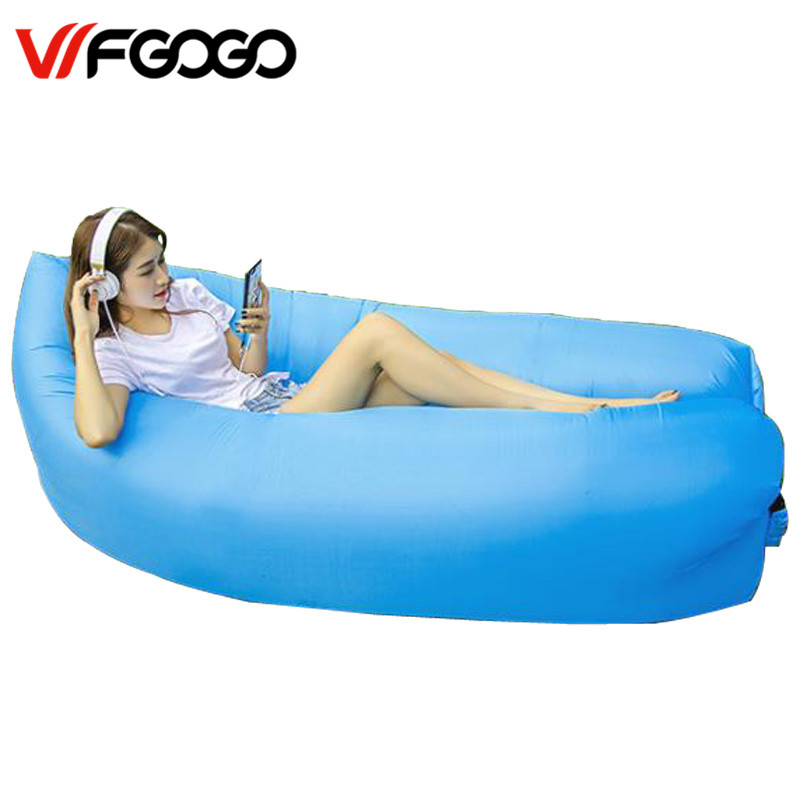 WFGOGO Lazy bag Fast Inflatable Sofa Outdoor Air Sofa Sleeping bag Couch Portable Furniture Living Room Sofas for Summer Campin(China)