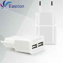 Eastion EU Plug 2 Ports USB Wall Charger Smart Adapter Mobile Phone Charging Data Device For iPhone 6 6S Samsung S7 Chargers