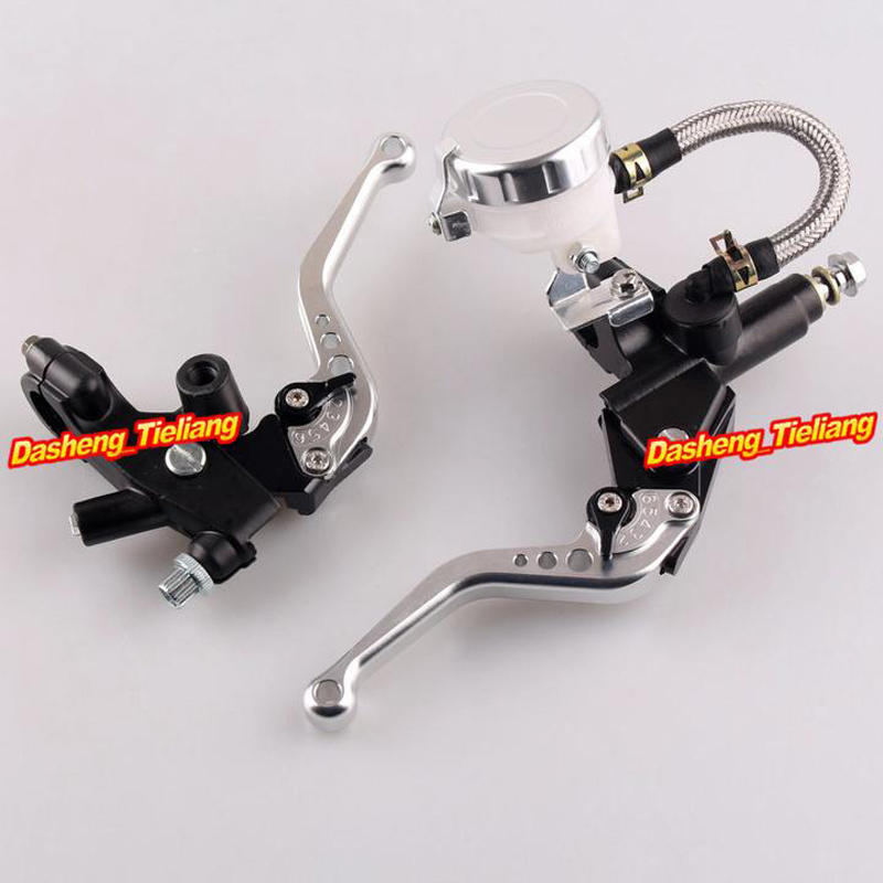Universal 7/8 22mm Front Master Cylinder Brake Clutch Levers For Sport Street Bike Silver High Quality<br>