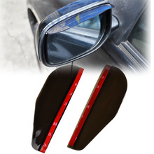 Accessories 2X Car Door Side Rear View Wing Mirror Rain Visor Board Snow Guard Weather Shield Sun Shade Cover Rearview Universal(China)