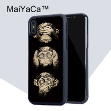 Buy MaiYaCa Three Wise Monkeys Wisdom TPU Case Apple iphone X Rubber soft shell iPhone X case Phone protective cover for $4.77 in AliExpress store
