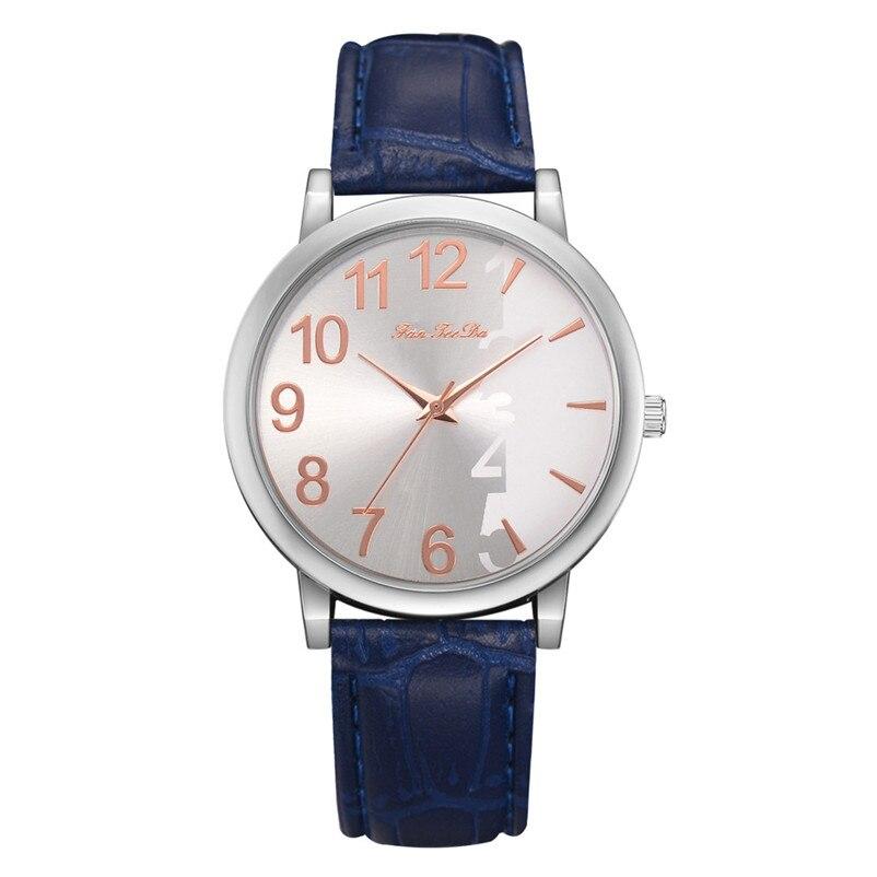 2018 High Quality women fashion casual watch luxury dress Leather bands Analog Quartz Wrist Watch clock relogio feminino Y12 (9)
