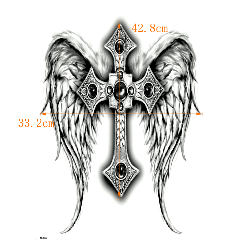 angel wing cross temporary tattoo Party event fun