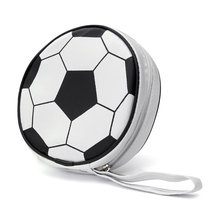 Football Design 24 Sleeves Game CD Storage Bags DVD VCD Discs Organizer Slots Wallet Storage Sheet Case Disk Card Holder