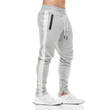 2018 Cotton Men Jogger sportswear Pants Casual Elastic cotton Mens Fitness Workout Pants skinny Sweatpants Trousers Jogger Pants(China)
