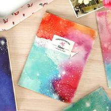 1pcs/lot 105*142MM/New Romatic Color Starry sky series Kraft paper notebook/journal Diary/Notepad(China)