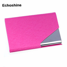 Elegant design Mini Box Pocket Wallet Business Name ID Credit Card Case Holder New Simple operation gift wholesale B05(China)