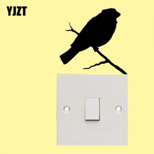 Smart Bird Wall Switch Sticker Animal Vinyl Artistic Decal Decor 8SS-0151