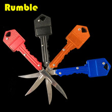 Protable Key Fold Knife Mini Pocket Knife Key Chain Knife Peeler Camping Survival Knife Tool 4 Colors Aluminum Handle Gift