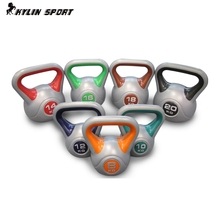2kg price Pot dumbbell professional quality multicolour dip kettlebell barbell high-end fitness kettlebells(China)