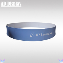 Custom Size 15ft*2.5ft Easy Fabric Banner Circle Hanging Advertising Display Stand With Your Own Design Printing