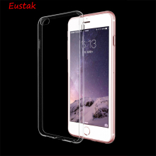Eustak Ultrathin Clear Transparent TPU Silicone Soft Cover Case For iPhone 6 7 6s Plus 5s 5 4s back cover case Phone Cover Coque