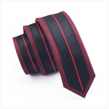 Red Pattern Frame Line Black Striped Slim Tie Skinny Narrow gravata 2017 Fashion Silk Ties For men 6cm width Wedding dress E-101