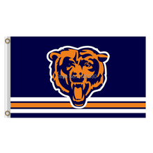 Strip Bears Logo Chicago Bears Flag Banners Football Team Flags 3x5 Ft Super Bowl Champions Banner 90x150cm Bear