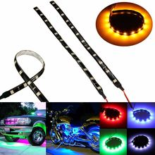 Buy 2Pcs 12 LED 5050 SMD Car Motorcycle Flexible Strip Lamp DC 12V 30cm Waterproof Auto Truck Scooter ATV Flexible Strip Light for $1.58 in AliExpress store