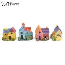 4Pcs/set Mini Country House Doll house DIY Resin Craft Ornaments Garden Miniature Landscape Fairy Garden Bonsai Terrarium Decor(China)