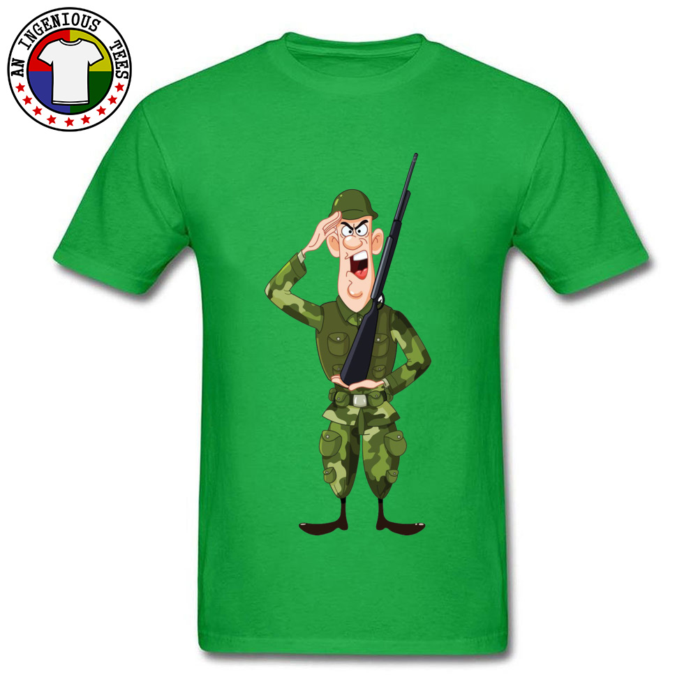 Soldier Salute Royalty Crewneck Top T-shirts Autumn Tees Short Sleeve Hip Hop Pure Cotton Design Tee Shirt Normal Men Soldier Salute Royalty green