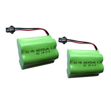 2pcs 6v battery 2400mah ni-mh bateria 6v nimh battery pack 6v size aa rechargeable ni mh for lighting rc car toy electric tools(China)