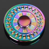 UFO Colorful Circular Tri-Spinner Fidget Toy EDC Hand Spinner Anti Stress Reliever And ADAD Fidget Spinner 606 steel Bearing