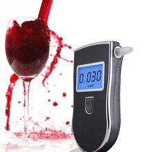 Digital breathalyzer breath alcohol tester blue backlight + LCD display + 10pcs mouthpieces + Free shipping(China)