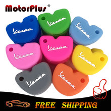 For Vespa S LX LXV GTS SPRINT PRIMAVERA Piaggio New Fly 3vte 125 gts gtv 250 300 Silicone Key Cover Keychain Key Protect Case