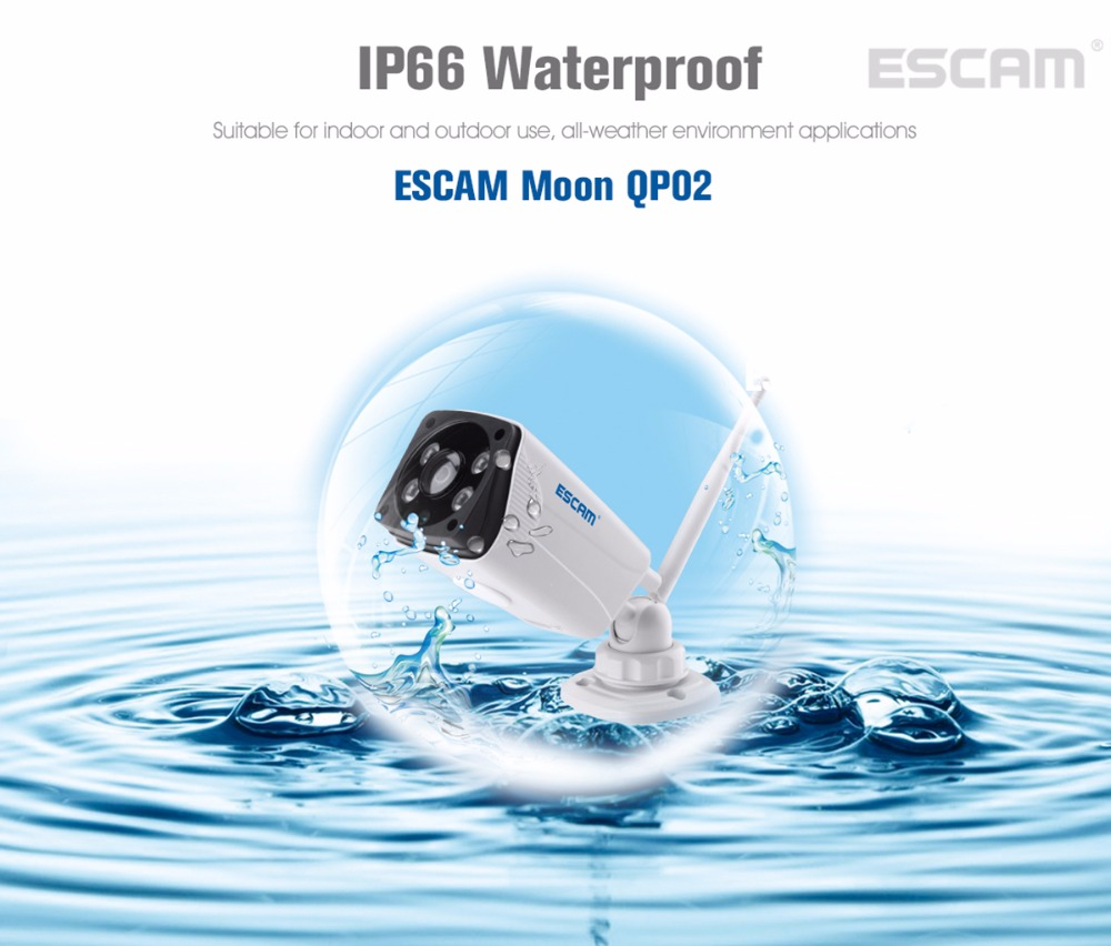 Escam Moon QP02 2MP HD 1080P WIFI Alarm Camera Outdoor Bullet IR-Cut 180 degree Security ip Camera Support Max 64G TF card (10)