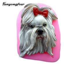 World famous dog turn sugar cake mold silicone mold chocolate mold soap soap candle tool free shipping(China)