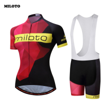 Buy MILOTO Cycling Jersey Pro Team Womens Summer Ropa Ciclismo Short Sleeve MTB Bike Bicycle Cycling Clothing Jersey Sets Gel Pad for $24.99 in AliExpress store