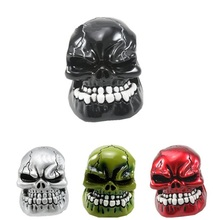 Universal Manual Gear Stick Shift Shifter Lever Knob Wicked Carved Skull pomo marchas Black Green Red Silver Freeshipping