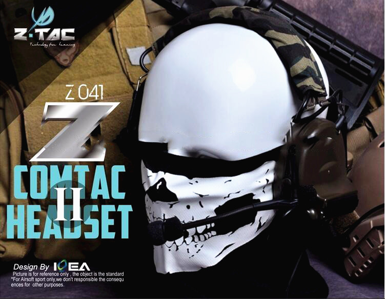 Z-Tactical Aviation headphone Comtac II C2 Headsets Noise Canceling Earphone Airsoft Paintball Microphone Hunting Headphone Z041