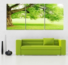 3 Piece NO Framed Canvas Photo Prints Thick Green Trees Home Office Artwork Giclee Paintings Home Decor Canvas Wall Art Painting
