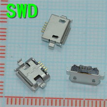 10pcs 5pin Female Micro USB Connector, SMD 2 Fixed feet, Widely used in tablet, phones and PDA   #DSC0039
